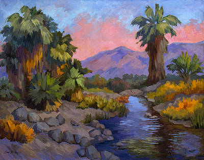 Canyons Painting - Ancient Cahuilla Fish Traps by Diane McClary