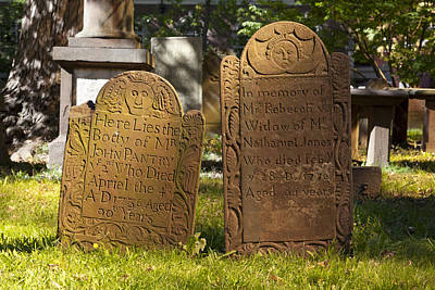 Photograph - Ancient Cemetery In Hartford Connecticut by Carol M Highsmith