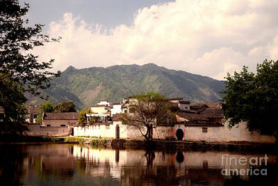 Anhui Photograph - Ancient Chinese Village  by Fototrav Print