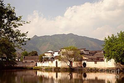 Anhui Photograph - Ancient Chinese Village Of Hongcun China by Fototrav Print