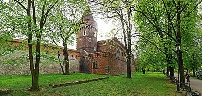 Ancient City Walls In Krakow, Poland Art Print