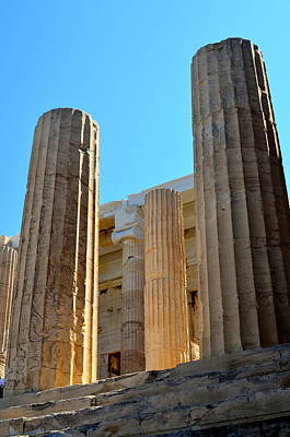 Photograph - Ancient Columns by Corinne Rhode