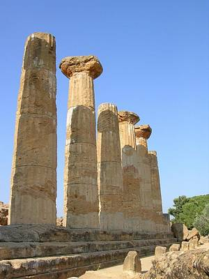 Photograph - Ancient Columns In Agrigento by Caroline Stella