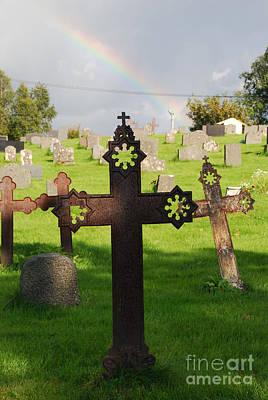 Photograph - Ancient Cross Rainbow Blessing by Ankya Klay