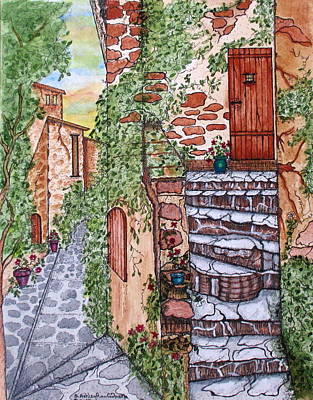 Painting - Ancient Crumbling Stone Steps by Ashley Goforth