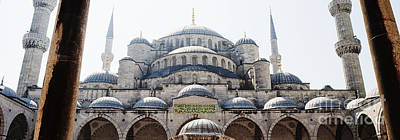 Photograph - Ancient Domes Of The Blue Mosque by MaryJane Armstrong