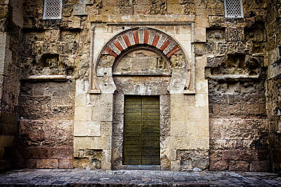 Ancient Door To The Mezquita In Cordoba Art Print