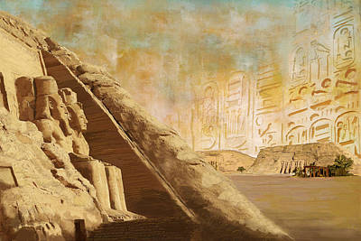 Abu Simbel Painting - Ancient Egypt Civilization 05 by Catf