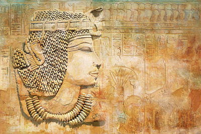Abu Simbel Painting - Ancient Egypt Civilization 07 by Catf