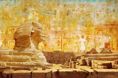 Music Figurative Potraits - Ancient Egypt Civilization 08 by Catf