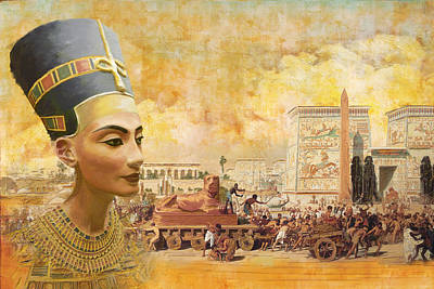 Abu Simbel Painting - Ancient Egypt Civilization 09 by Catf