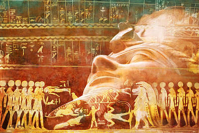 Ancient Egypt Civilization Detail 00 Art Print