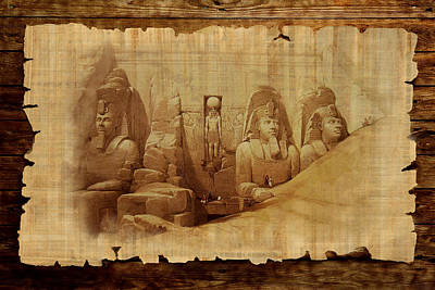 Abu Simbel Painting - Ancient Egypt Civilization Detail 03 by Catf