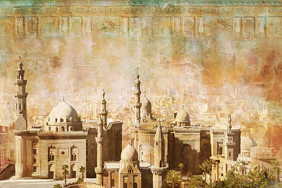 Giza Painting - Ancient Egypt Civilization Detail 04 by Catf