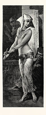 Dancing Girl Drawing - Ancient Egyptian Dancing Girl by Litz Collection
