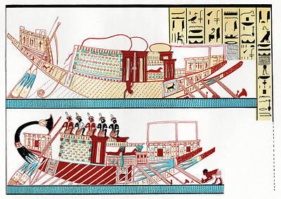Thebes Photograph - Ancient Egyptian Ships by Cci Archives