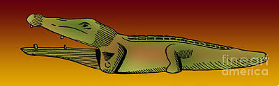 Photograph - Ancient Egyptian Toy Crocodile, 500 Bc by Photo Researchers