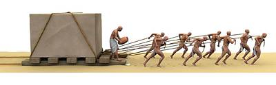 Ancient Egyptians Moving Stone Art Print