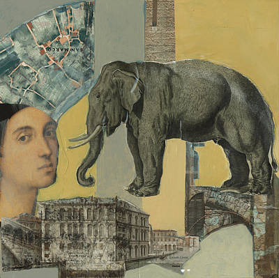 Mixed Media - Ancient Elephant by Jillian Goldberg