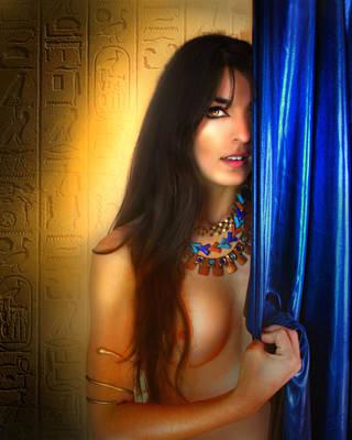 Egyptian Goddess Isis Digital Art - Ancient Enigma by Lucinda Rae