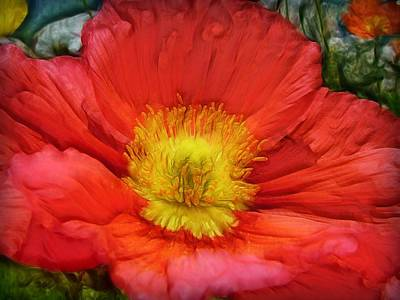 Ancient Flower 4 - Poppy Print by Lilia D