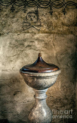 12th Century Photograph - Ancient Font by Adrian Evans