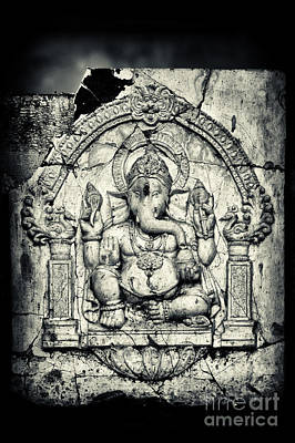 Plaque Photograph - Ancient Ganesha by Tim Gainey