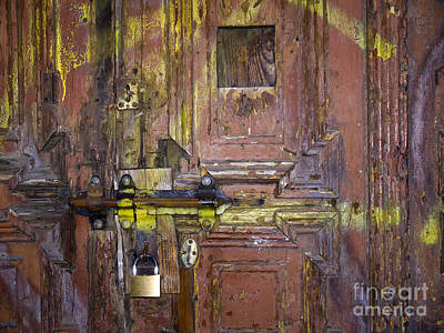 Photograph - Ancient Ghetto Door by Brenda Kean