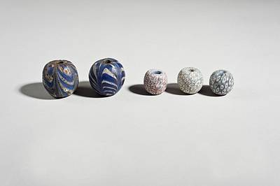 Ceramics Photograph - Ancient Glass Beads by Science Photo Library