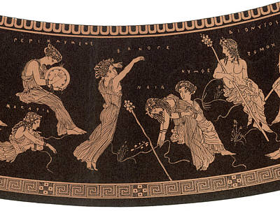 Ancient Greece A Female Dancer Art Print by Mary Evans Picture Library