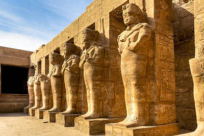 Photograph - Ancient Guardians At The Egyptian Ruins Of Karnak by Mark E Tisdale