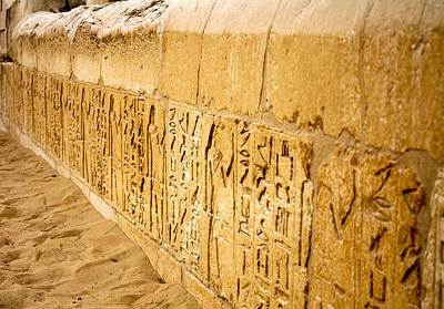 Photograph - Ancient Hieroglyphics Of Giza by Anthony Doudt
