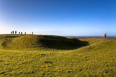 Photograph - Ancient Hill Of Tara In The Winter Sun by Mark Tisdale