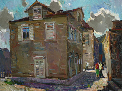 Painting - Ancient House In Perast by Juliya Zhukova