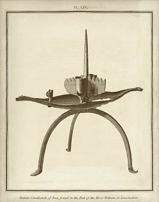 Miscellaneous Photograph - Ancient Iron Candlestick by Middle Temple Library