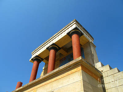 Greek Photograph - Ancient Knossos Palace Crete Greece by Cimorene Photography