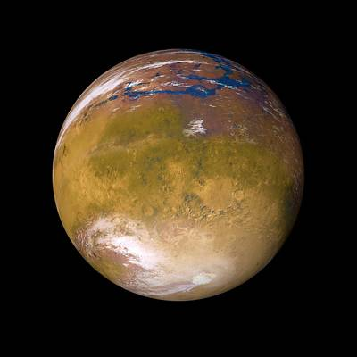 Terraform Photograph - Ancient Mars by Detlev Van Ravenswaay