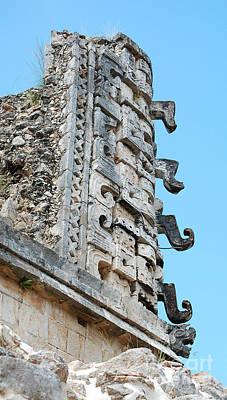 Photograph - Ancient Mayan Glyphs At Uxmal Mexico by Shawn O'Brien