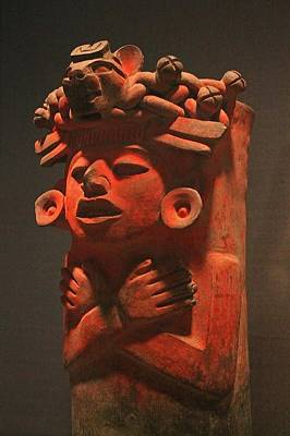 Photograph - Ancient Mexican Figurine by Michael Saunders