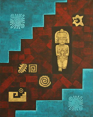 Fertility Symbols Painting - Ancient Mexico by Diana Perfect
