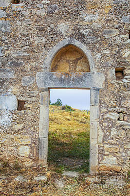 Photograph - Ancient Monastary In Crete by Patricia Hofmeester
