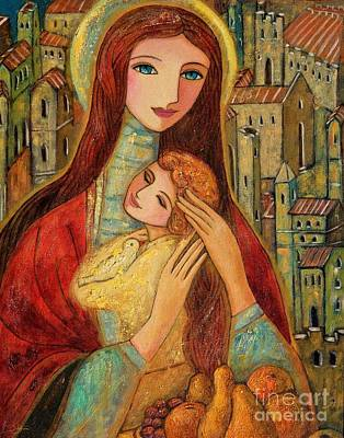 Religious Art Painting - Ancient Mother And Son by Shijun Munns