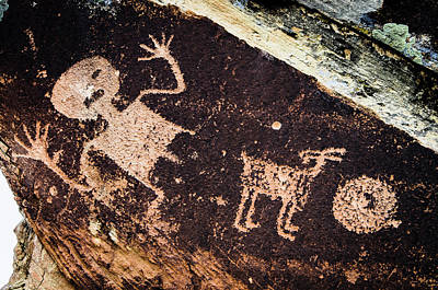 Petrified Forest Arizona Photograph - Ancient Native American Petroglyphs by Jerry Ginsberg