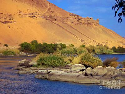 Sahara Desert Meets The Nile Art Print