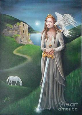 Art Print featuring the painting Ancient Queen by S G