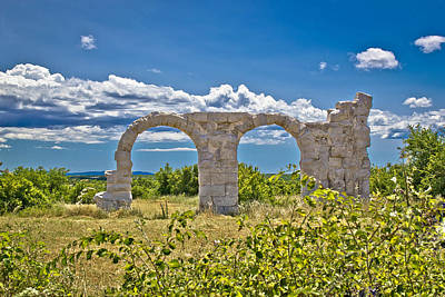 Photograph - Ancient Roman Burnum Archaeological Site by Brch Photography