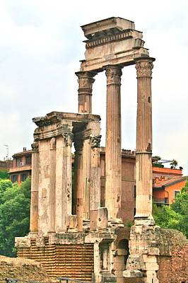 Photograph - Ancient Roman Columns by Gordon Elwell