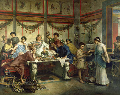 Roberto Painting - Ancient Roman Feast by Getty Research Institute