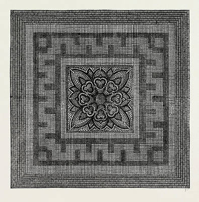 Ancient Roman Pavement Found In Threadneedle Street Art Print by Litz Collection