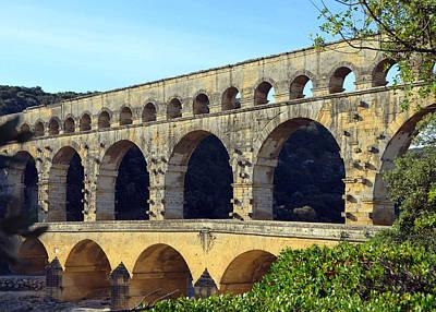Photograph - Ancient Roman Pont Du Gard In Provence by Carla Parris